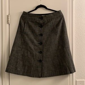 A Line Banana Republic Button Down Skirt